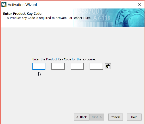 bartender software product key code